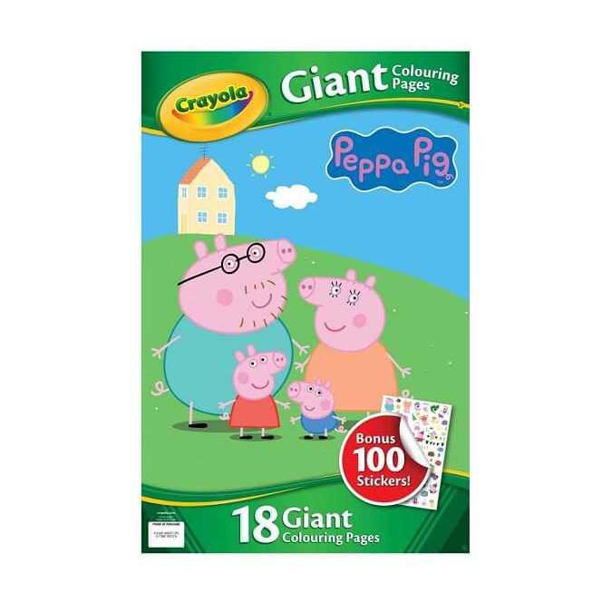 Gurli Gris malebog gigant med stickers